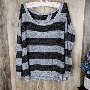 Torrid Split Back Striped Sweater 2
